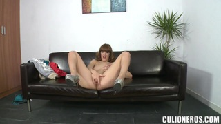 Pretty tall lady Carol Vega undresses and shows her vagina