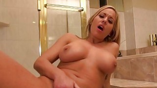Huge boobs Olivia Austin bathroom fuck