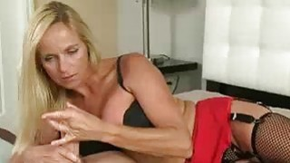Milf Teases His Cock Tip And Back Of His Cock
