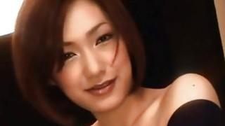 Smiling Japanese Cutie Wraps Her Lips Around Stiff Cock