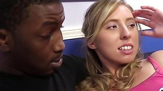 Blondes Sofie And Taylor Filled By Black Dong
