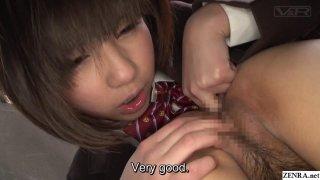 JAV lesbian schoolgirls CFNF cunnilingus Subtitled