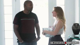 Harley Jade enjoying her neighbors black dick
