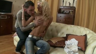 Facefuck and pussy drilling for teen Nara