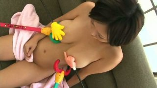 Gays playing with beautiful busty chick Anri-Chan